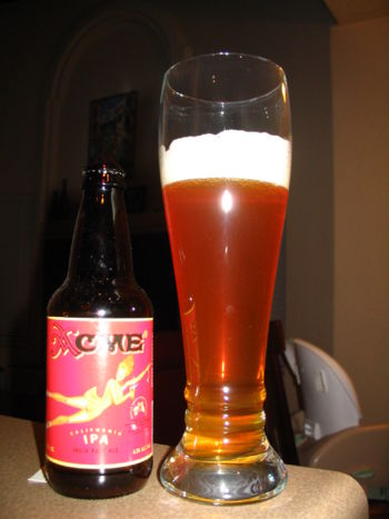 Later at night, Steve utilized an ACME IPA from Wild Oats--delicious but not as good as Sierra Nevada PA.