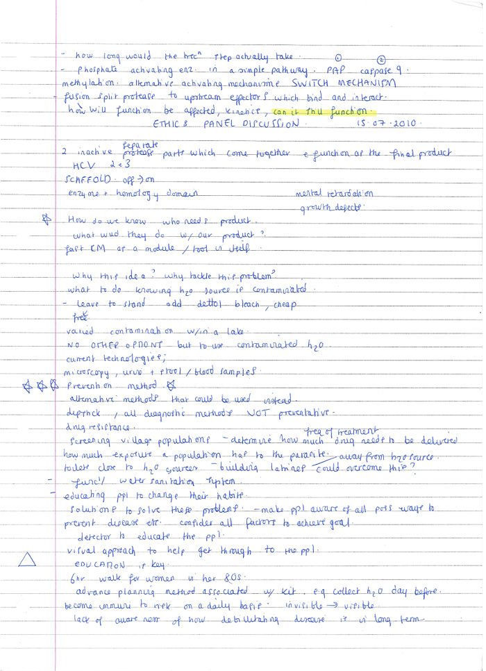 Maddie's notes page - 1