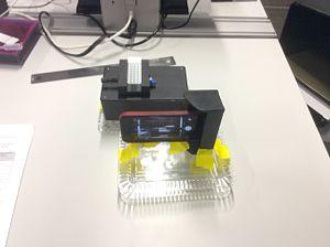 Single-Drop Fluorimeter setup without covering.