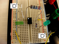 Photo of finished circuit.