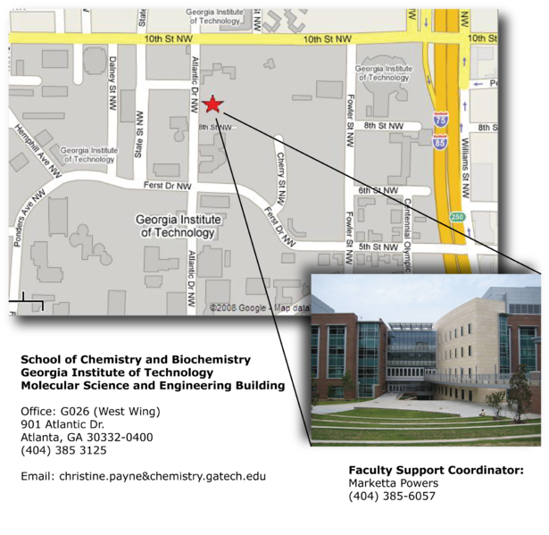 Image:Payne lab Contact section map and building.png