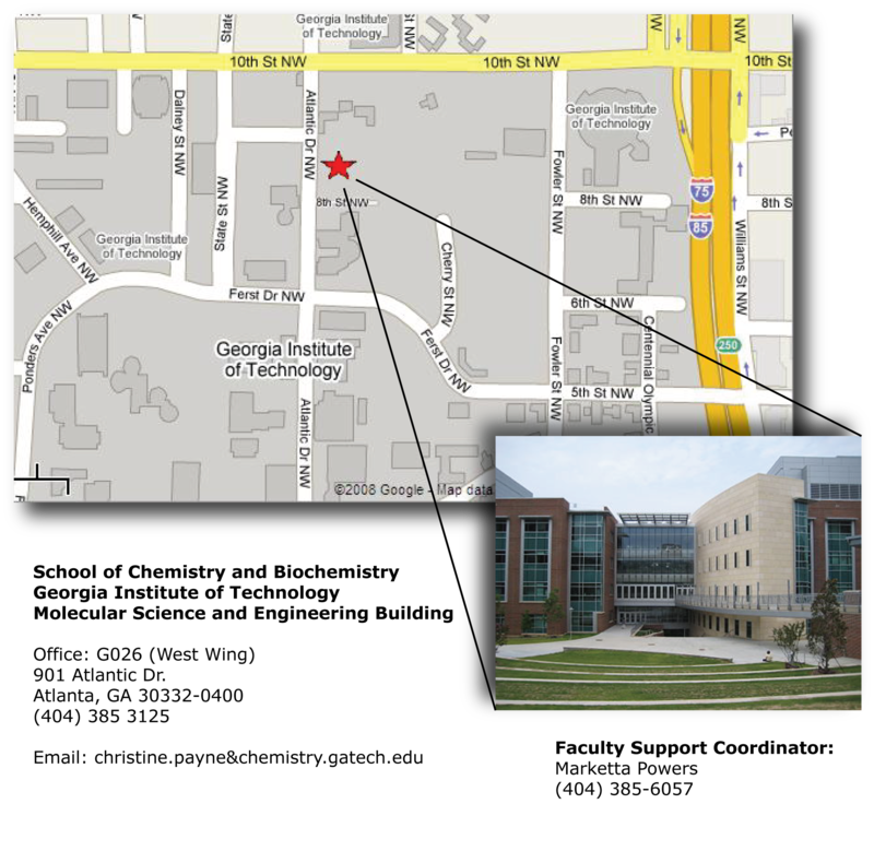 Payne lab Contact section map and building.png