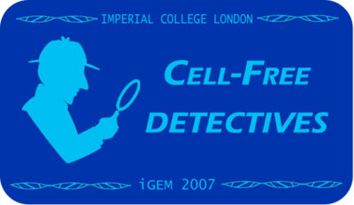 Cell Free Detectives - Sherlock Holmes theme in logo v3