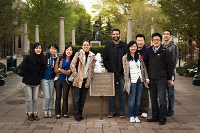 April 2012 (From the left: Kwihye, Xian, Suyoung, Young, Steve, Jingli, Yan-Yan, Heesue, and David)
