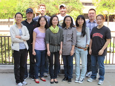 September 2011 (From the left: Young, Heesue, Suyoung (front), David (back), Kwihye, Steve, Hyejin, Xian, Yan-Yan, and Lindsey)