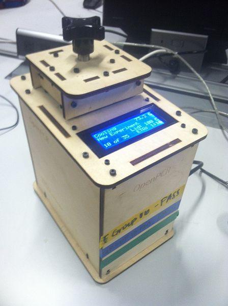 File:Wood Frame PCR machine.JPG