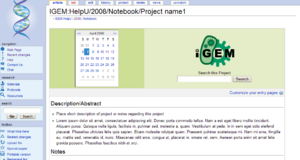 Go to and copy the iGEM project template