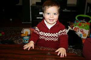 My son Kaan at 1 year
