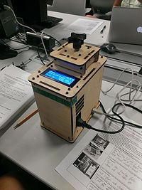 Snapshot of an OpenPCR plugged into a computer. Photo from AM Group 7