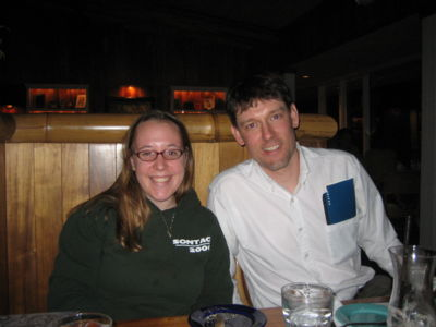 Emily and Keir, out to dinner after the Biophysical Society conference