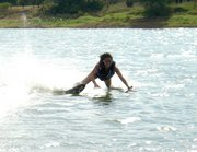 This is me waterskiing.  Lake Travis, Austin, TX 09/10/05