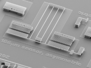 SEM image of a MEMS force sensor described in our APL paper