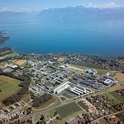 EPFL campus on the shores of Lac Léman.
