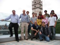 The Imperial College iGEM team and advisors on the terrace of the Biochemistry building
