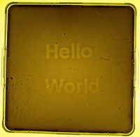 "Hello world.  ""Hello World"" was the first image taken by the folks at UT-Austin/UCSF (though this is a later, more polished version).  Image courtesy of UT/UCSF"