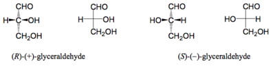 Scheme 11: Fischer Projections of Glyceraldehyde