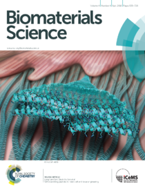 2016 Biomaterials Science SAPs for stem cell and tissue engineering Cover image.png