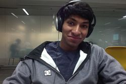 Swaroon Sridhar (and headphones)