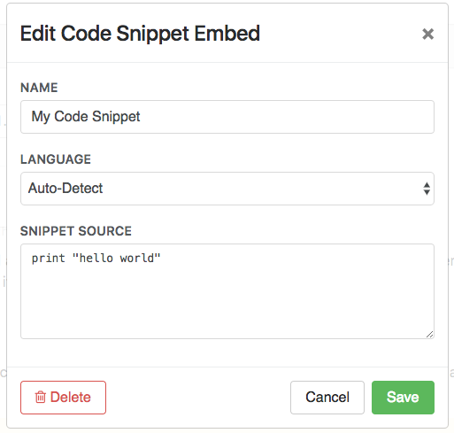 Code Snippet