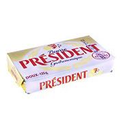 Manteiga President Tablete S/sal 125g