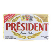 Manteiga President S/sal 200g Tablete