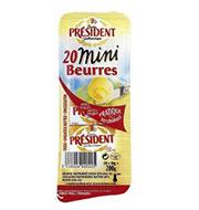 Manteiga President Mini S/sal 200g Tablete
