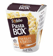 Prato Pronto Pasta Box Pipe Rigate 4 Queijos