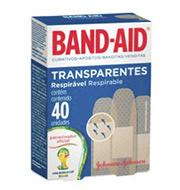 Curativo Band-aid Transparentes 40 Unidades