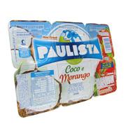 Iogurte Paulista Coco e Morango 540g (6 unida