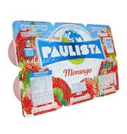 Iogurte com Polpa de Fruta Paulista Morango 5