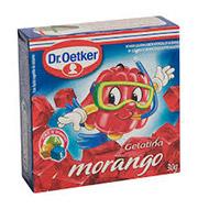 Gelatina em Pó Dr. Oetker Morango