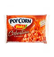 Popcorn Microondas Yoki 160g Caramelo Pacote