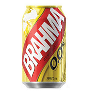 Cerveja Brahma Zero Álcool 0,0% Lata 350 ml