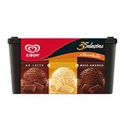 Sorvete 3 Seleções Kibon Chocolate 1,5L