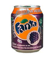 Refrigerante Fanta Uva 250ml Lata