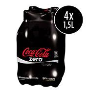 Coca-cola Zero Garrafa Pet 1,5L (4 Unidades)