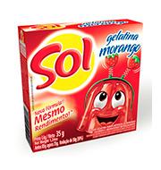 Gelatina Sol Morango 35g Caixinha