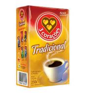 Café 3 Corações Tradicional Embalado à Vácuo
