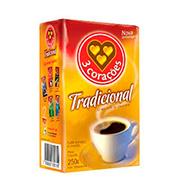 Café 3 Corações Tradicional 250g Vácuo