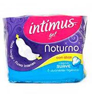 Absorvente Intimus Gel Noturno Suave Com Abas (8 Unidades)