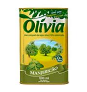 Oleo Composto Olivia ManjericÃo 500ml Lata