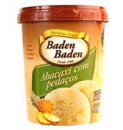 Sorvete De Abacaxi Com Pedaços Baden Baden