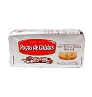 Manteiga Pocos De Caldas S/sal 200g Tablete