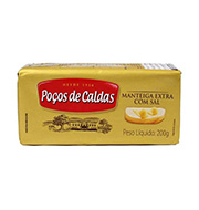Manteiga PoÇos De Caldas Com Sal 200g Tablete