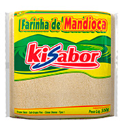 Farinha De Mandioca Fina Kisabor 500g  Pacote