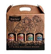 Cerveja Backer 04 Garrafas 355 ml (Kit)