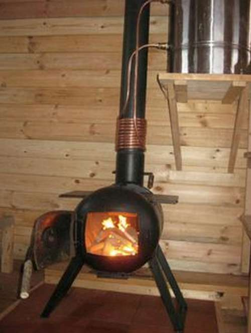 woodstove-water-heater