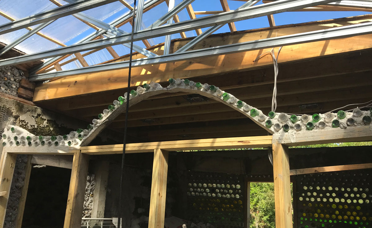 florida earthship solarium construction