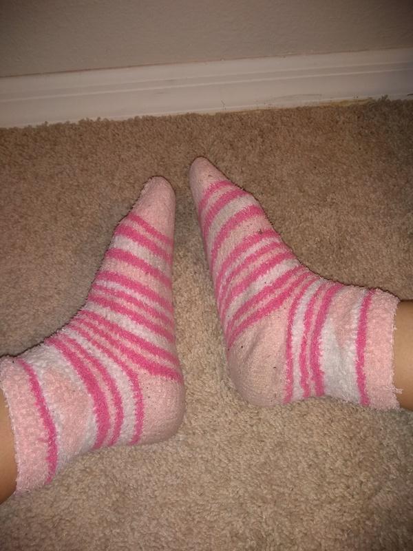 Pink girly looking pre worn socks