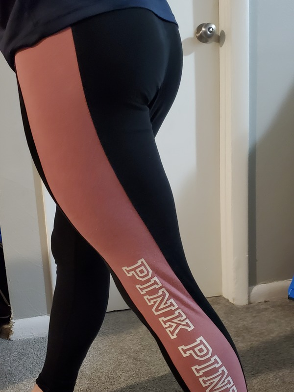 Victorias secret Pink black leggings